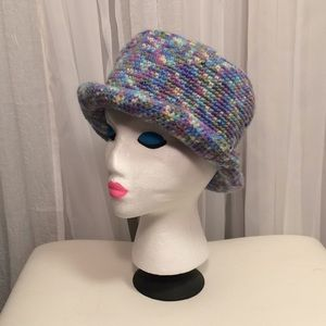 Vintage '90s Knit Mermaid Color Blue Pink Hat